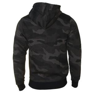 Camouflage zipped Hoodie L Dark Camo
