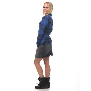 Damen Flanell Hemd langarm kariert Blau/Schwarz Medium...