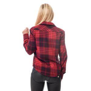 Damen Flanell Hemd langarm kariert Rot/Schwarz