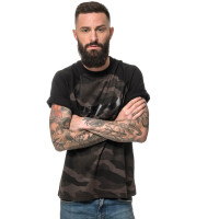 Herren dark camo T-Shirt Black Logo