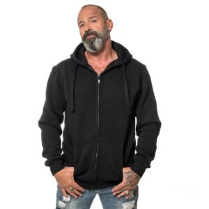 Premium Heavy Zipped Hoodie  Schwarz 3XL