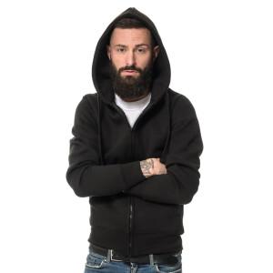 Premium Heavy Zipped Hoodie  Black 4XL