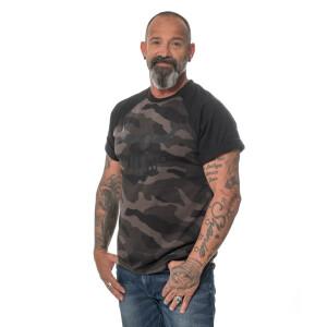 Herren Black logo dark camo T-Shirt Medium Dark Camo