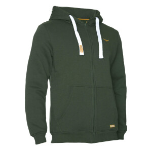 Premium Heavy Zipped Hoodie  Olive Grün XL