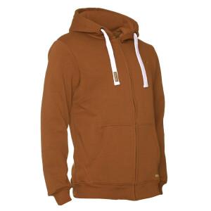 Premium Heavy Zipped Hoodie  Rost Braun 5XL