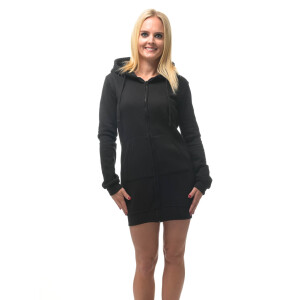 Hooded zipped Sweater Kleid