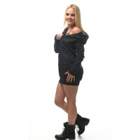 Hooded zipped Sweater dress