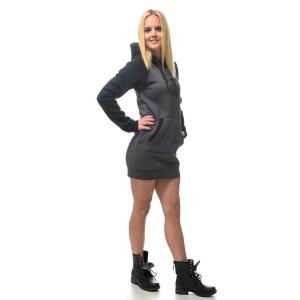 Hooded Raglan Sweater Kleid