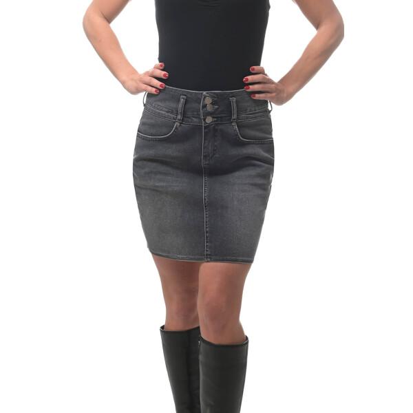 Casual denim skirt with high waistband