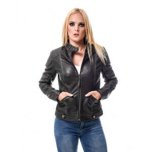 Ladies leather jacket Micha