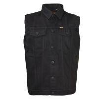 ROCK-IT - sleveless denim jacket black