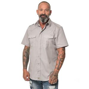 Herren Workershirt kurzarm 4X-Large Charcoal
