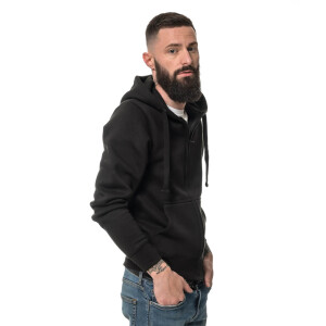 Heavy Zipped Hoodie XL Black