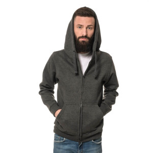 Heavy Zipped Hoodie XL Dark heather Grau