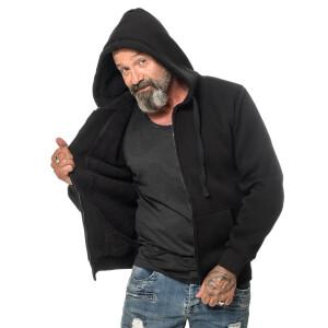 Winter zipped Hoodie L Schwarz