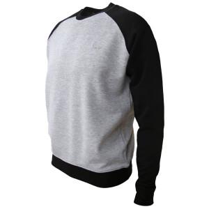 Raglan Sweatshirt M Grau/Schwarz