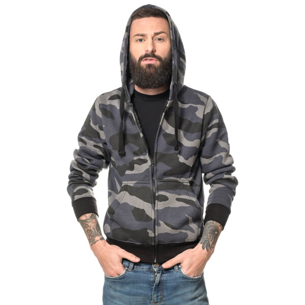 Camouflage zipped Hoodie