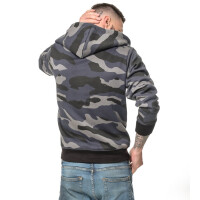 Camouflage zipped Hoodie