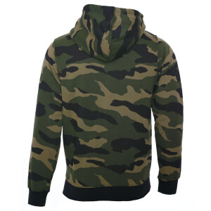 Camo zipped hoodie L green / brown