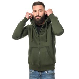 Heavy zipped hoodie slim fit XL enamel green