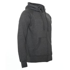 Heavy zipped hoodie slim fit 3XL Dark Heather Gray