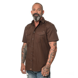 ROCK-IT - Men`s Workershirt Brown Medium