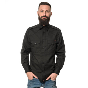 Men`s Workershirt langarm XX-Large Schwarz