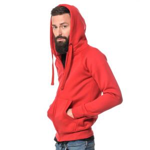 Heavy zipped hoodie slim fit XL Red