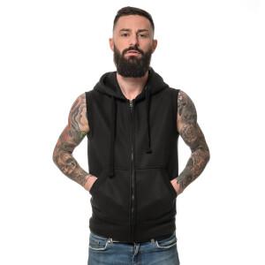 Heavy zipped Hoodie sleeveless XL Schwarz