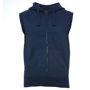 Heavy zipped hoodie sleeveless XL Navy